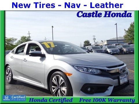 Certified Pre-Owned 2017 Honda Civic Sedan EX-L With Navigation
