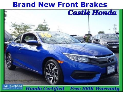 Certified Pre-Owned 2016 Honda Civic Coupe LX FWD 2dr Car